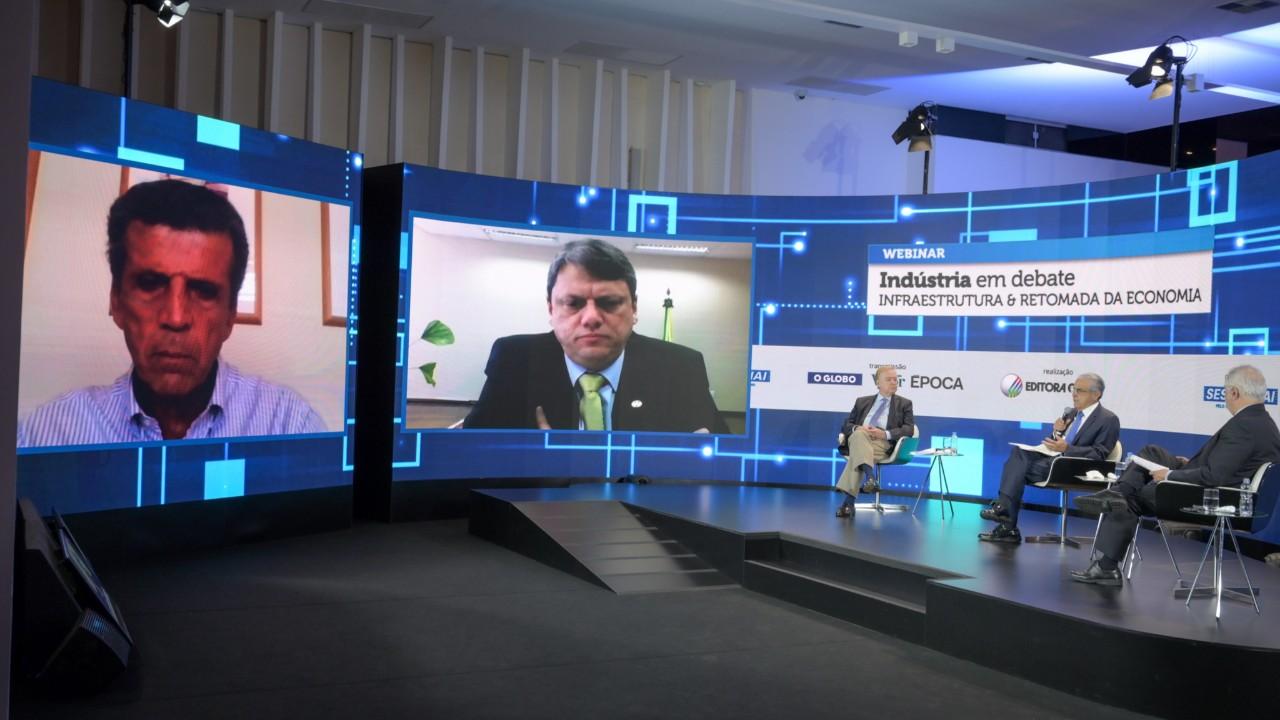 Não há outro caminho senão a transferência massiva da infraestrutura para a iniciativa privada, diz Tarcísio de Freitas