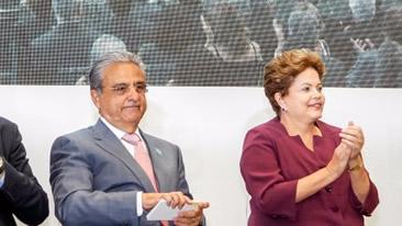 Dilma Rousseff e Robson Braga de Andrade inauguram fábrica em Minas Gerais
