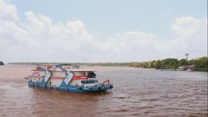 Barco-escola Samaúma é destaque no Caldeirão do Huck