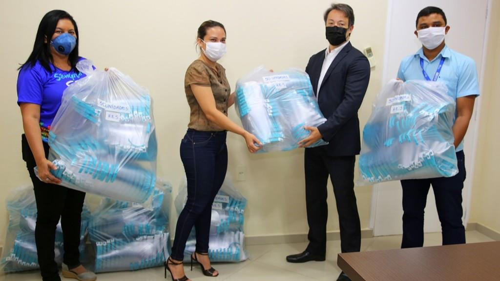SENAI Amapá doa mais de 600 protetores faciais para profissionais de saúde