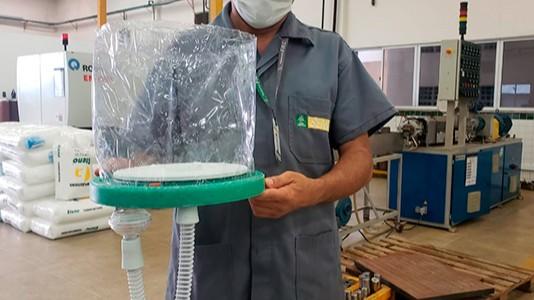 SENAI e universidades do Ceará desenvolvem capacete de respiração assistida