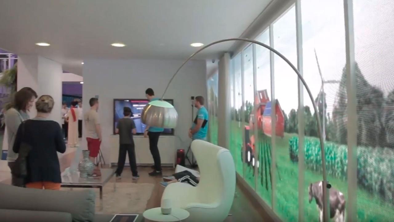 VÍDEO: Conheça a janela digital da Casa Inteligente montada na Olimpíada do Conhecimento 2018