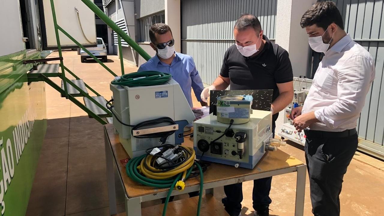 SENAI devolve 3 respiradores consertados em Mato Grosso do Sul