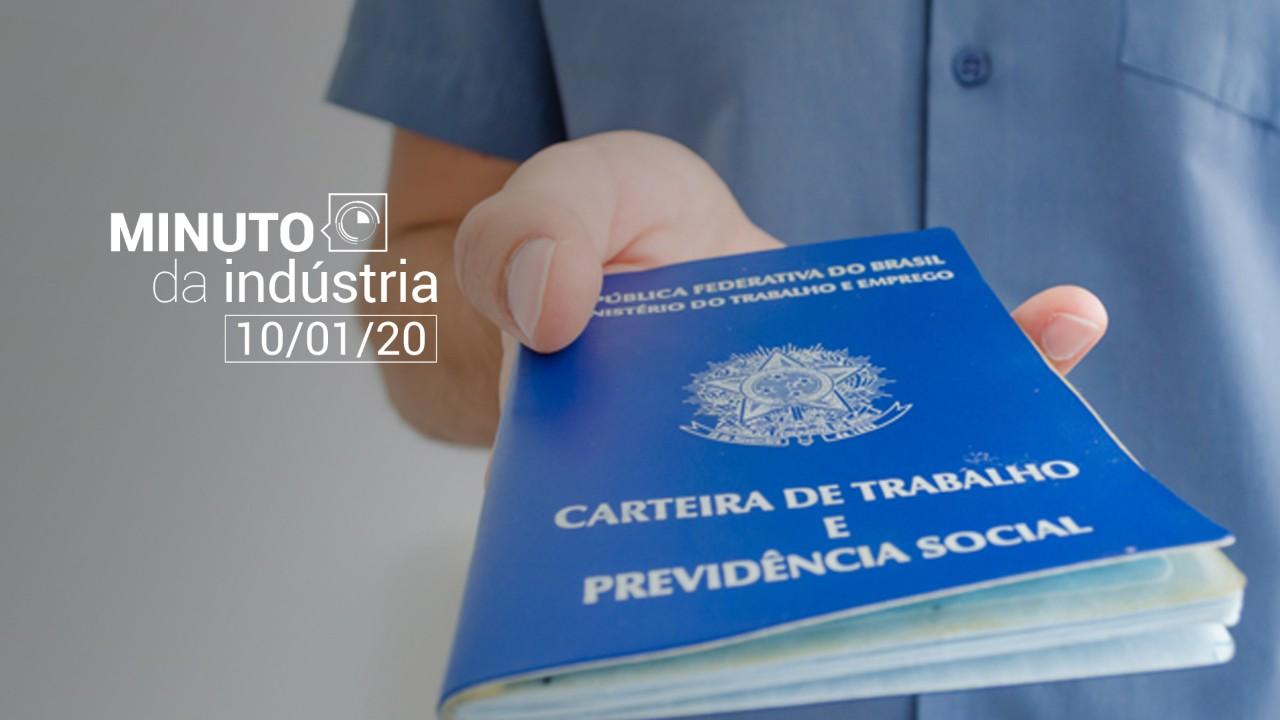 Minuto da indústria - Cai o medo do desemprego no Brasil
