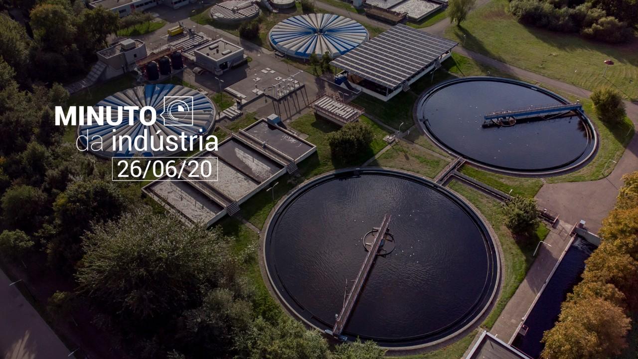 VÍDEO: Novo marco do saneamento é destaque no Minuto da Indústria