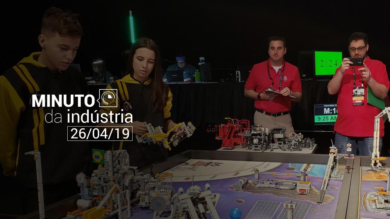 VÍDEO: Brasil é premiado em Mundial de Robótica. Veja no Minuto da Indústria