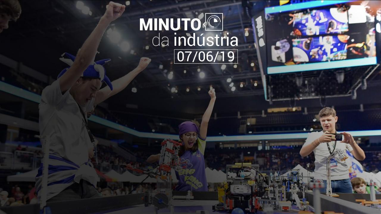 VÍDEO: Minuto da Indústria mostra o sucesso das equipes brasileiras de robótica nos torneios internacionais