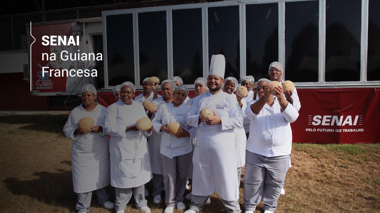 VÍDEO: SENAI forma novos padeiros na Guiana Francesa