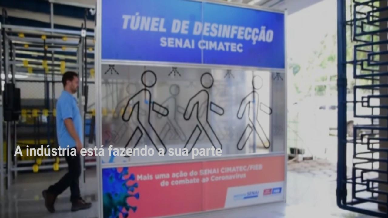VÍDEO: A indústria contra o coronavírus - case túnel de desinfecção SENAI Cimatec