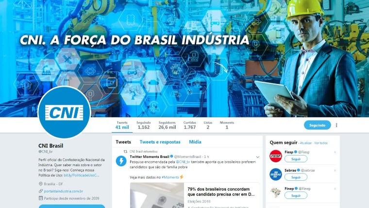 Comunicação 4.0: CNI inova e divulga pesquisa via Twitter