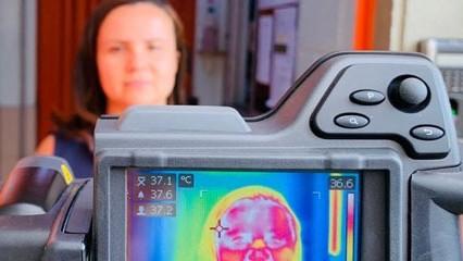 Câmera térmica identifica possíveis trabalhadores com febre
