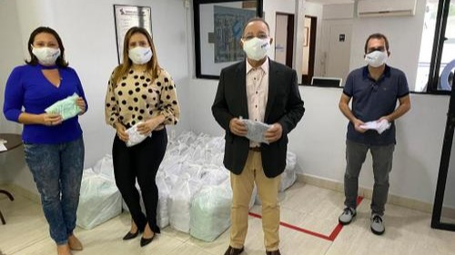 SESI da Paraíba entrega 15 mil máscaras ao Sinduscon