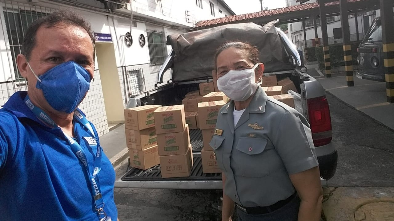 FIEPA e Sococo doam água de coco para instituições de saúde