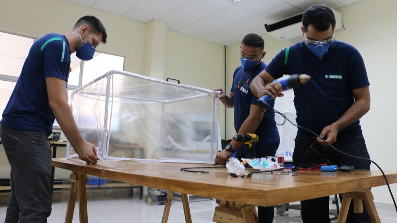 SENAI de Mato Grosso fabrica cápsula de proteção contra coronavírus