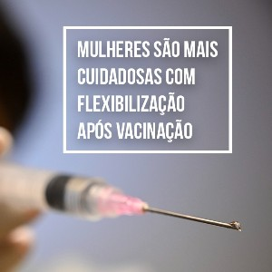 Mulheres são mais cuidadosas com flexibilização após vacinação