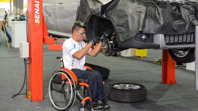SENAI testa a qualidade da educação profissional para pessoas com deficiência