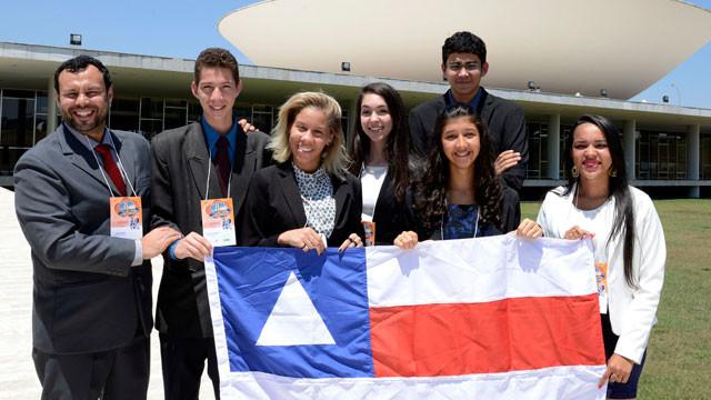 Estudantes do SESI participam em Brasília do Parlamento Jovem Brasileiro