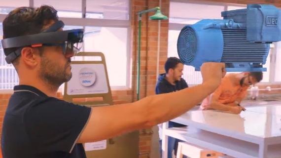 SENAI usa aplicativo com tecnologia de holografia para melhorar aprendizado