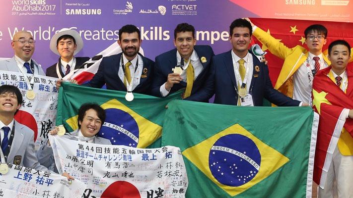 Estudantes do Mato Grosso conquistam o ouro no mundial de profissões técnicas