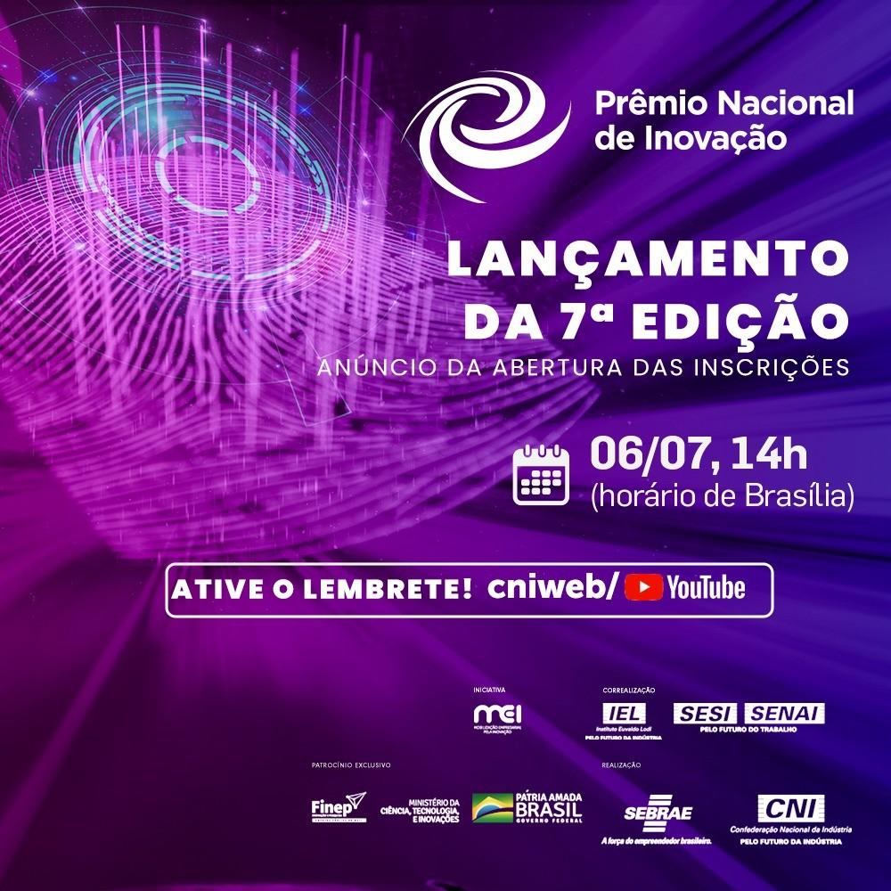 Live: CNI e Sebrae abrem amanhã as inscrições para o Prêmio Nacional de Inovação - Agência CNI de Notícias
