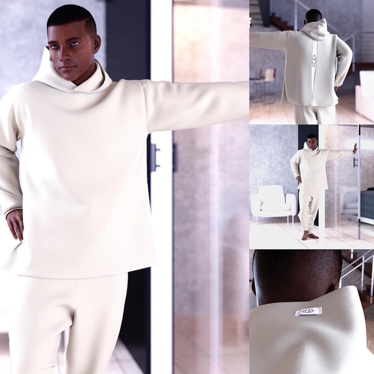 Ilustração em 3D mostra processo de seleção de roupa na plataforma Ateliê 4.0